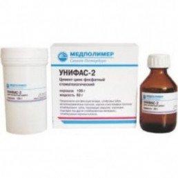 """Унифас-2 (100г пор.+60мл.) цинкфосфатный цемент """"Медполимер"""""""