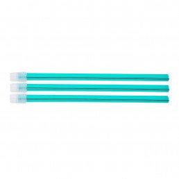 Слюноотсосы со съемным колпачком, Бирюзовые (100шт) 150мм, ASA Dental (Blossom)