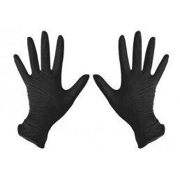 Перчатки нитрил 100шт ЧЕРНЫЕ DISPODENT S(6-7)