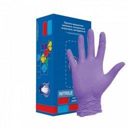 Перчатки нитрил, 100шт, Фиолетовые Safe&Care M(7-8) LN307