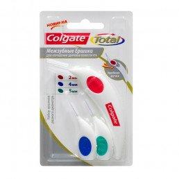 Ершики межзубные Colgate, набор (2,4,5 мм) Колгейт-Палмолив
