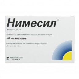 Нимесил гранулы для пригот. сусп. для приема внутрь (100 мг) (пакетики 2 г*30 шт) Лабораториос Менарини С.А.