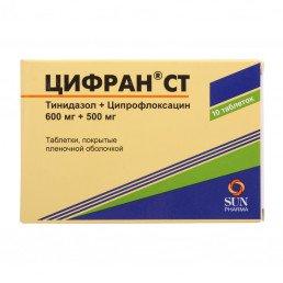 Цифран СТ, таблетки (500 мг/+600 мг) (10 шт) Сан Фармасьютикал Индастриз Лтд