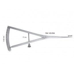 40-05A Кронциркуль (микрометр) прямой, шкала 0-40 мм, длина 17 см