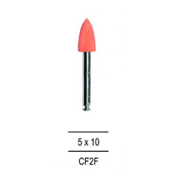Резинка для полировки Композитов КОНУС средний, розовый=мелкозерн (1шт).