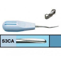 Люксатор (S-3CA) периотом укороченный, 3мм, изогнутый, Directa