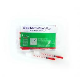 Шприц инсулиновый U40 (10шт) 1 мл с иглой 0,3*8 мм (30G*) BD Micro-fine plus (БД Микро-файн плюс)