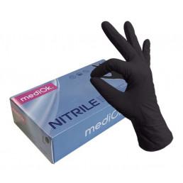 Перчатки нитрил, 100шт, Черные MediOk XS(5-6)
