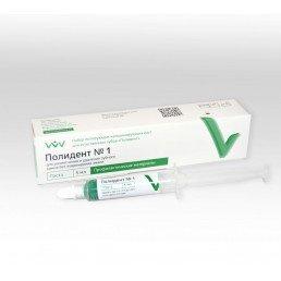 Полидент №1 (1 шпр*5 г) Полирующая паста для удаления твердых зубных отложений, ВладМиВа