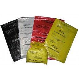 Пакет для медотходов класс Б(Желтый)  60л, 15мкн (уп 100 шт+стяжка) Инновация