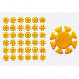 Счетчик для использования инстр. Желтые (100 шт/уп) Kagayaki (Кагаяки) (Ромашки)