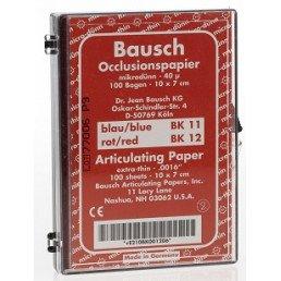 Копирка бумага BAUSH 40мик. ВК12 (дугообраз. полоски 10*7см) красная (100листов)