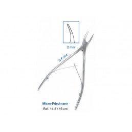 14-2 Кусачки костные Micro-Friedmann, 16 см, рабочая часть 2 мм, S-образные