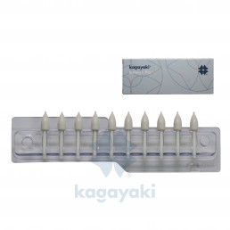 Enforce Pin КОНУС (Белый - Грубый) (10шт), Kagayaki (Кагаяки)