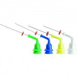 НавиТип ассорти (зел/син/жел/бел по 5 шт) эндоиглы для введения расстворов Ultradent (NaviTip)