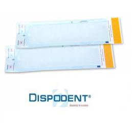 Пакеты для стерилизации Dispodent  70мм/257мм (уп 200шт)  самозапечатывающиеся (бумага/пленка)