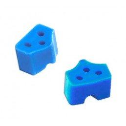 1.866 Насадки силиконовые на кольца синие (40 шт) ТОР ВМ