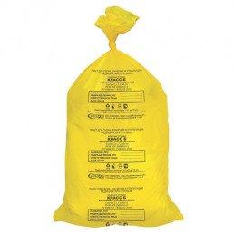 Пакет для медотходов класс Б (ЖЕЛТЫЙ)  6л (330*300 мм) (уп 100шт+стяжка) ПТП Киль