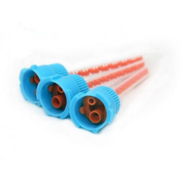 Смесители насадки синие с оранжевым сердечником (4:1 для Люксатемпа и тп) 50шт/уп DentalCombo