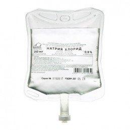 Физраствор - Натрия хлорид р-р 0,9% (пакет 250 мл) Мосфарм