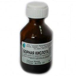 Борной кислоты раствор спиртовой 3% флакон (25 мл) Тульская фармфабрика