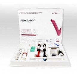 Армодент Набор (6 штифт.*3+3,5 г*2+5 мл+3 мл) Для восстановления коронковых частей зубов стекловолоконными  штифтами, ВладМиВа