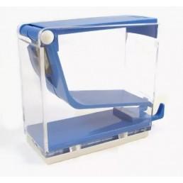 Диспенсер для ватных валиков, пластик, нажимной, Голубой(Blue)
