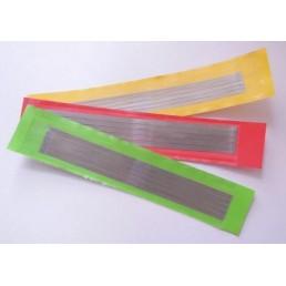 Штрипсы металич. АГРИ желтые (файн/50мкм/4мм), уп. 5шт