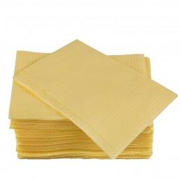 Салфетки д пациентов(нагрудники) 2-х сл Жёлтые  500шт EleGreen