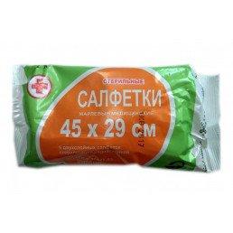 Марлевые салфетки 2х слойные Стерильные (45х29см *5шт) Верамед