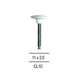 Резинка для полировки Композитов ДИСК закруглённый, белый=крупнозерн (1шт)