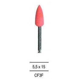 Резинка для полировки Композитов КОНУС большой, розовый=мелкозерн (1шт).
