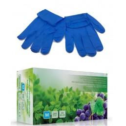 Перчатки нитрил, 200шт, Синие AN42-23 L(8-9)