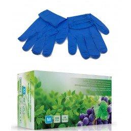 Перчатки нитрил, 200шт, Синие AN42-23 S(6-7)