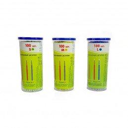 Аппликаторы ДС браш, маленькие-зеленые (S=1мм) 100шт  длинные DentalCombo