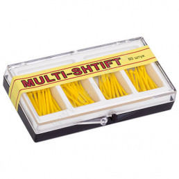 Мульти Штифт Желтые (1,2мм х23мм) (80шт) -беззольные штифты Рудент