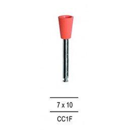 Резинка для полировки Композитов ЧАШКА узкая, розовый=мелкозерн (1шт).