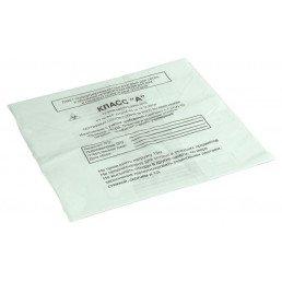 Пакет для медотходов класс А(Белый)  60л (700*800 мм) 15мкн (уп 100шт +стяжки) МедКом
