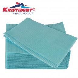 Салфетки д пациентов(нагрудники) 2-х сл Голубые  500шт КристиДент