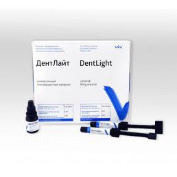 ДентЛайт Универсальный набор (7 шпр*4,5 г, 5 мл Адгезив, 3 мл Трав. Гель) Комплект пломбировочного композитного микрогибридного материала светового отверждения, ВладМиВа