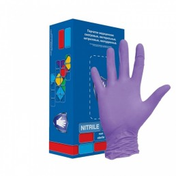 Перчатки нитрил, Фиолетовые, Safe&Care 100шт L(8-9) LN307