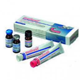 Молосил набор (2х30мл) - материал для перебазировки протезов, стандартная упаковка DETAX (Mollosil)