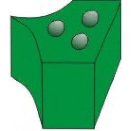 1.861 Насадки силиконовые на кольца зеленые (40 шт) ТОР ВМ