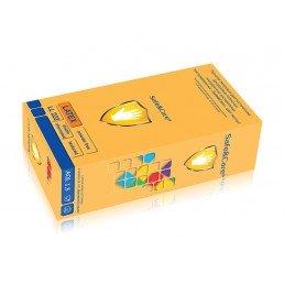 Перчатки латекс, 2хлор, 100шт, Safe&Care S(6-7)