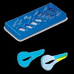 780 S Матрицы пластиковые НАБОР  (40 матриц для премоляров, 20 матриц для моляров, клинья Adapt Luciwedge (по 15 шт очень маленьких, малых, средних и больших) KERR