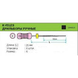 К-файл 25мм №06  (6шт уп) MANI