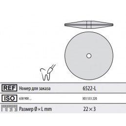 Полир ддя керамики без держателя ДИСК (закругл) 6522-L Kenda