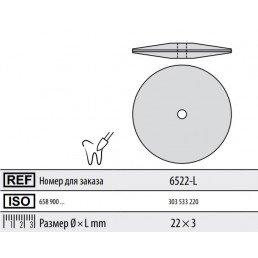 Полир для керамики без держателя ДИСК (закругл) 6522-L Кенда