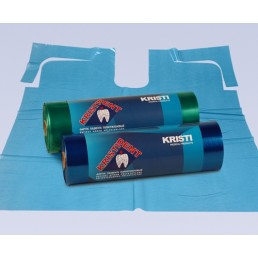 Фартук для пациентов ПЭ в рулоне, 200 шт / рулон, Синий КристиДент