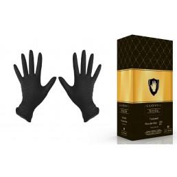 Перчатки нитрил 100шт ЧЕРНЫЕ Safe&Care XS(5-6)